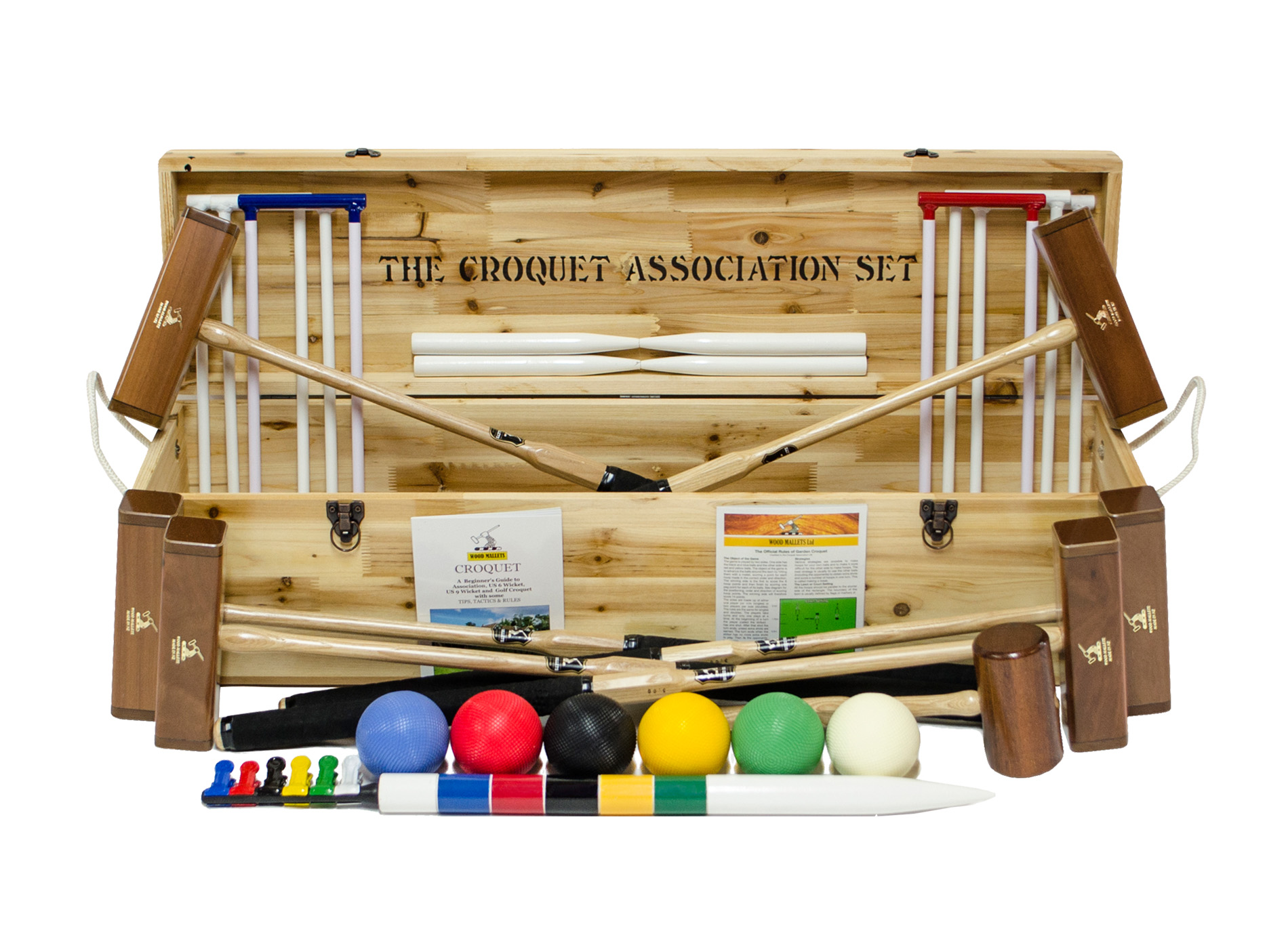 Wood Mallets - Croquet Association Set (6 Player)